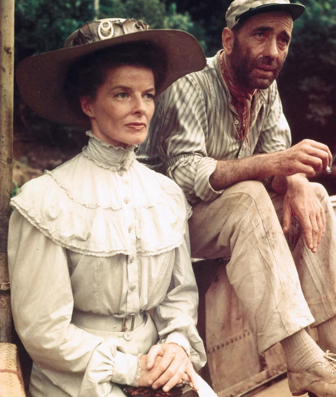 Katharine Hepburn Humphrey Bogart The African Queen 20 Things You Didn't Know About Indiana Jones and the Last Crusade