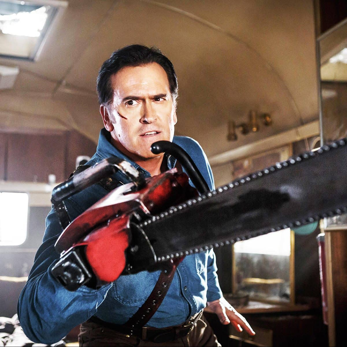 151023 news ash vs evil dead e1571910467876 Bruce Campbell's Plastic Surgery and 19 Other Things You Didn't Know About Army of Darkness