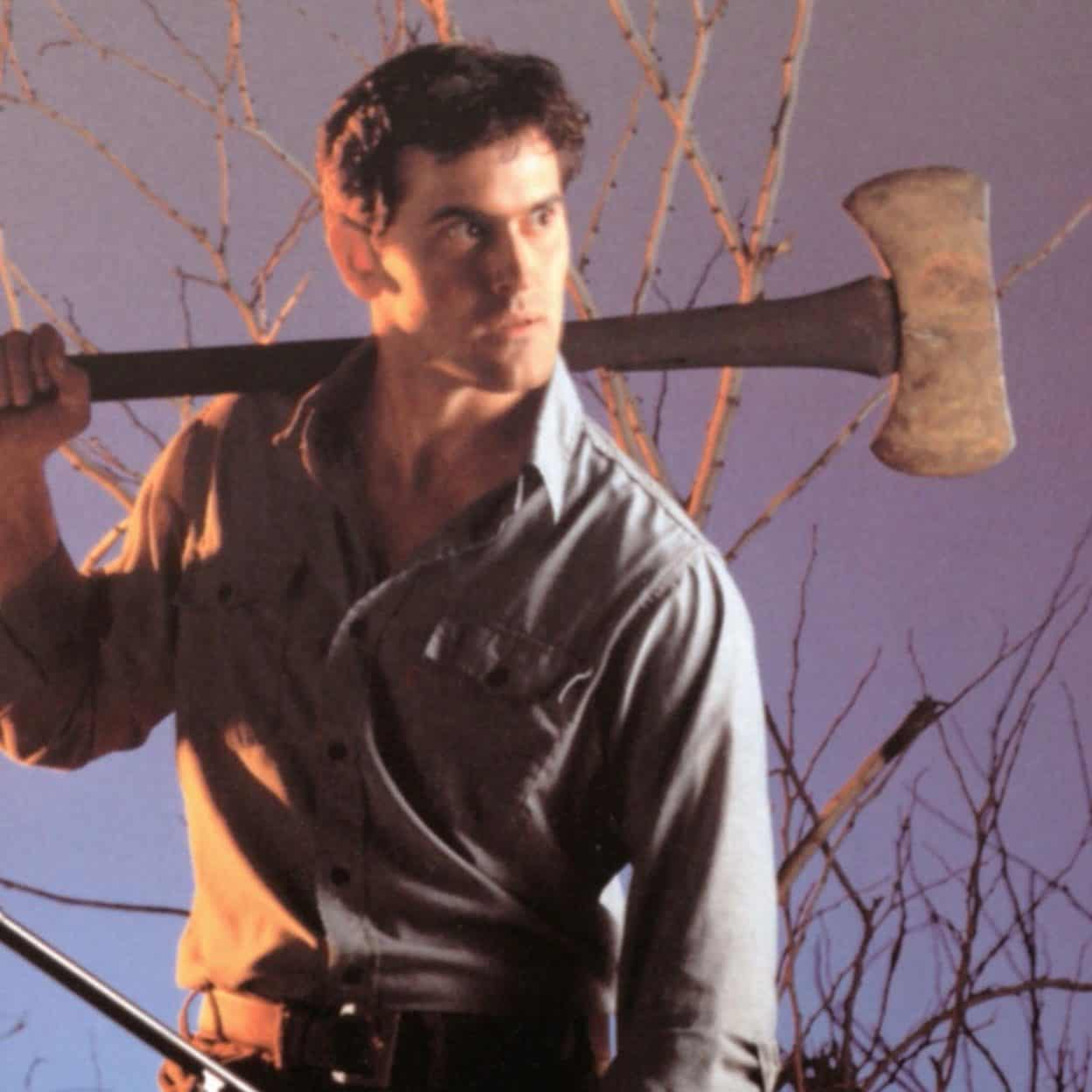 Bruce Campbell as Ash WIlliams in Evil Dead e1571843571514 Bruce Campbell's Plastic Surgery and 19 Other Things You Didn't Know About Army of Darkness