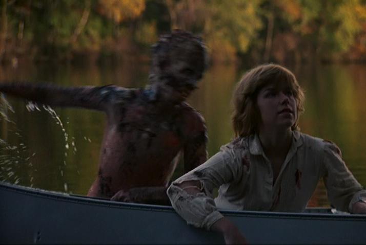 Friday the 13th Jason lake jump Adrienne King Ari Lehman e1617262679397 20 Horror Movies That Defined The 1980s