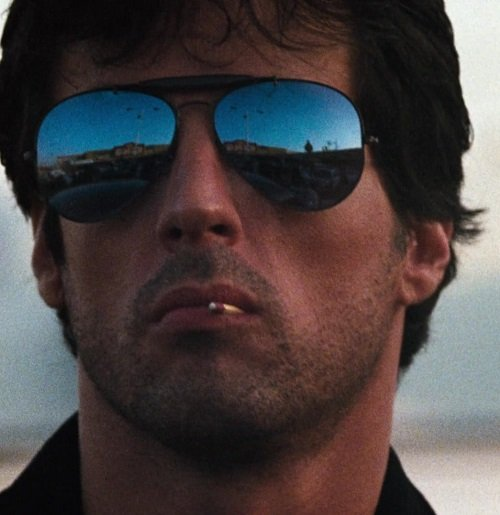 Ray Ban 3030 Outdoorsman Sunglasses Worn by Sylvester Stallone in Cobra 1 20 Things You Probably Never Knew About Stallone's Cobra