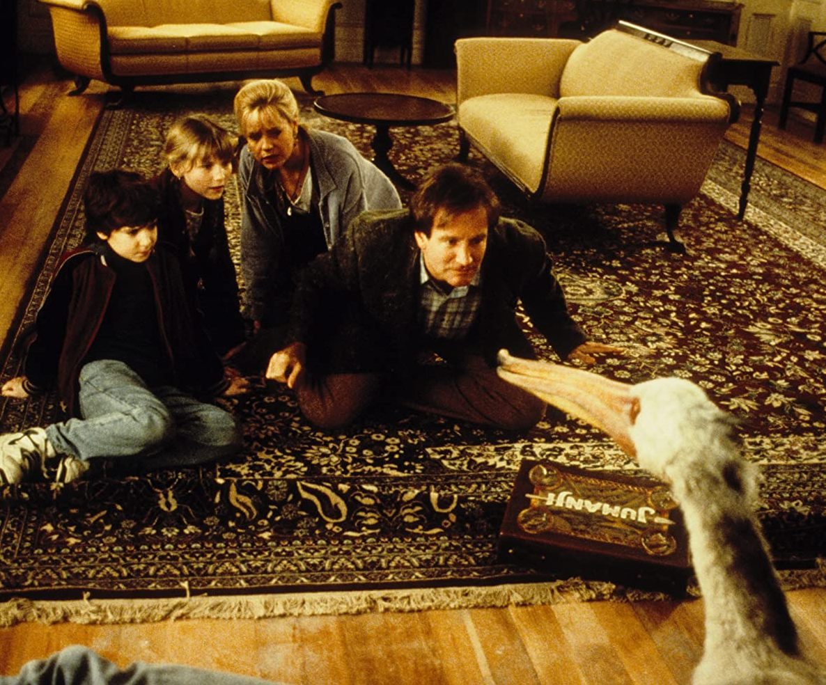 Robin Williams Kirsten Dunst Bonnie Hunt and Bradley Pierce in Jumanji 1995 e1615214552620 20 Facts You Probably Didn't Know About Jumanji