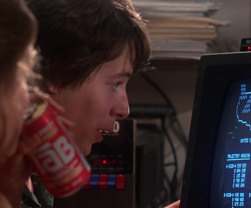 TAB Drinks in WarGames 1 e1617710458589 Shall We Play A Game? Here Are 20 Facts About WarGames!