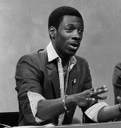 eddie murphy as raheem abdul muhammed chevy chase during weekend update on april 11 1981 photo by fred hermanskynbcnbcu photo bank via getty images 20 Facts You Never Knew About The Eddie Murphy Classic 48 Hrs