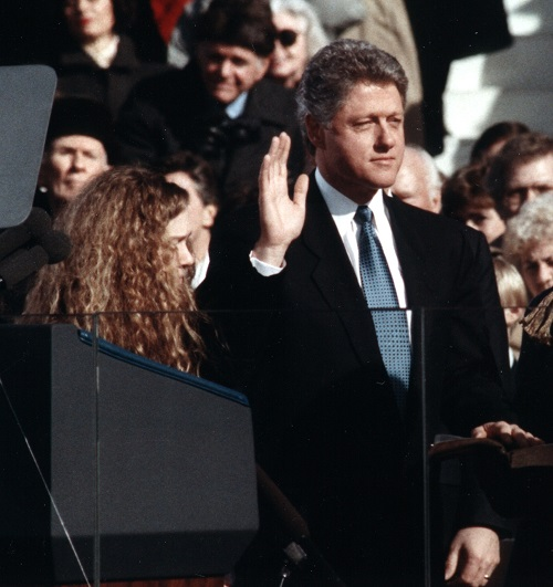 Bill Clinton taking the oath of office 1993 20 Things You Never Knew About Last Action Hero