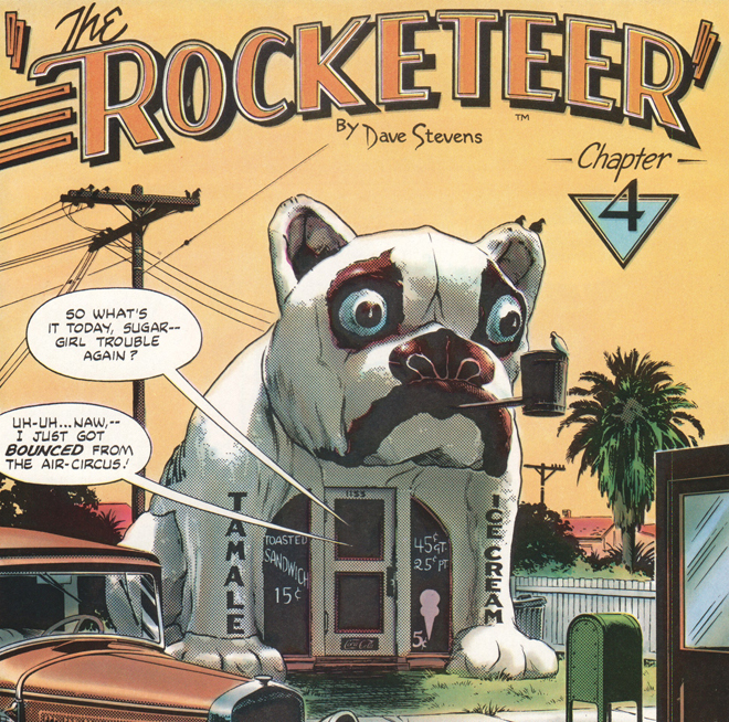 bull dog 20 Things You Never Knew About High-Flying Comic Book Movie The Rocketeer