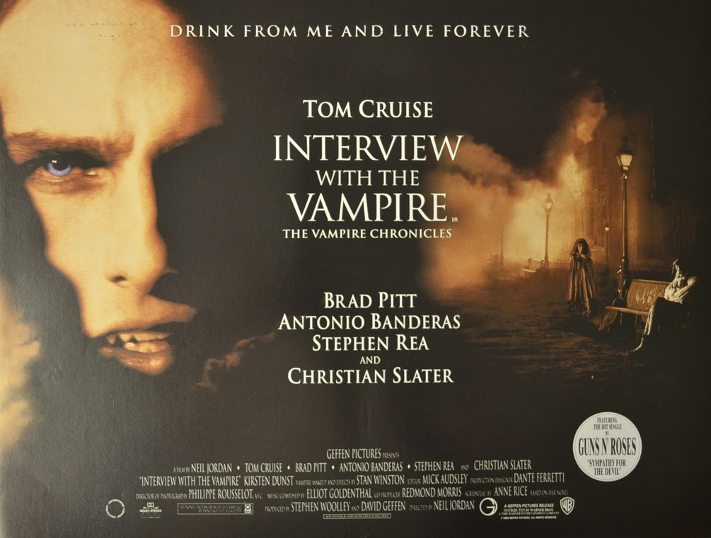 interview with the vampire cinema mini quad movie poster 1 e1624965016698 Get Your Teeth Into These 20 Facts You Didn't Know About Interview With The Vampire