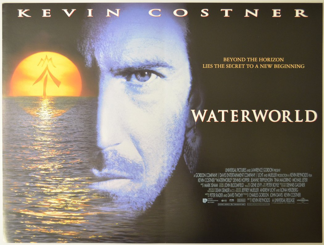 waterworld cinema mini quad movie poster black 1 40 Things You Never Knew About The Disastrous Waterworld