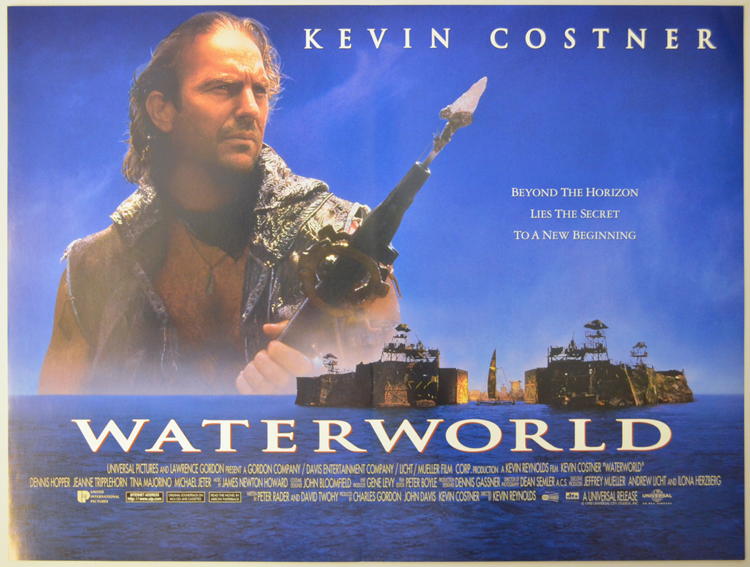 waterworld cinema mini quad movie poster blue 1 40 Things You Never Knew About The Disastrous Waterworld