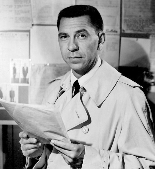 Jack Webb Joe Friday Dragnet 1957 e1581498880504 Just The Facts (20 Of Them) About Dan Aykroyd And Tom Hanks' Dragnet