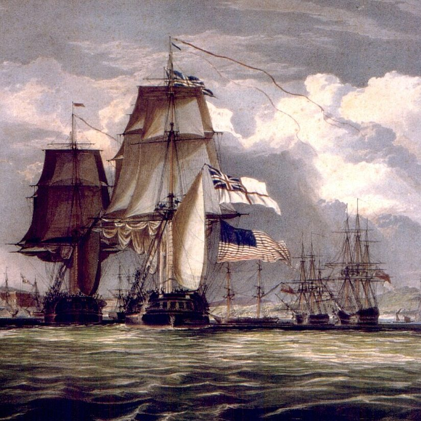 John Christian Schetky H.M.S. Shannon Leading Her Prize the American Frigate Chesapeake into Halifax Harbour c. 1830 e1579609680693 20 Things You Might Not Have Realised About An Officer And A Gentleman