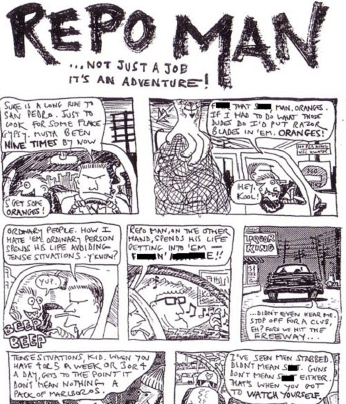 comic1 20 Intense Facts About 1984 Cult Classic Repo Man
