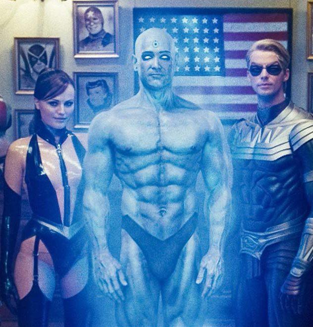 Jeffrey Dean Morgan Malin Akerman Patrick Wilson e1580907552395 20 Superhero Movies That Were Made For Adults Only
