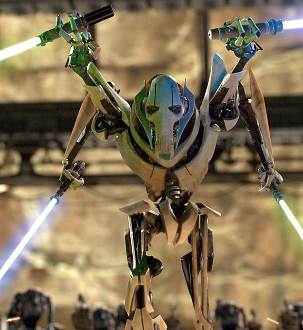 General Grievous saber laser arms e1584606939241 The 20 Best CGI Movie Monsters Ever