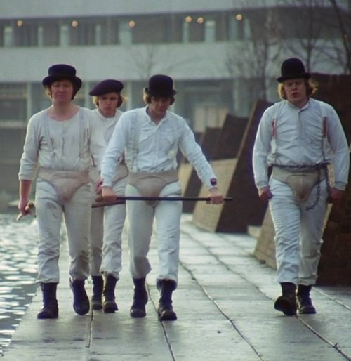 the droogs by waterfront 20 Films So Shocking They Made Audiences Flee The Cinema