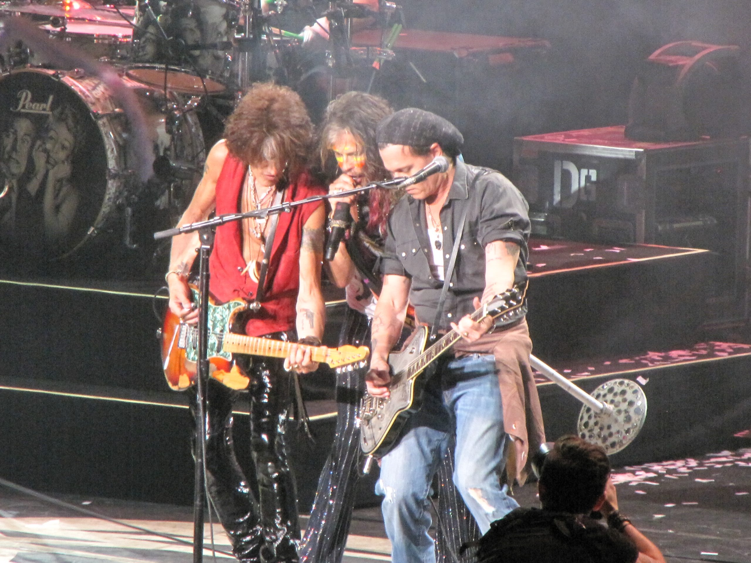 Aerosmith Johnny Depp 2014 scaled Walk This Way For 12 Fascinating Facts About Rock Legends Aerosmith