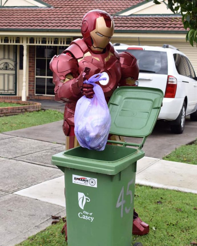 australians dress up taking bins out 5e8b0ca448d3e 700 e1586258366573 Australians In Lockdown Are Dressing In Their Finest Costumes Just To Take The Bins Out