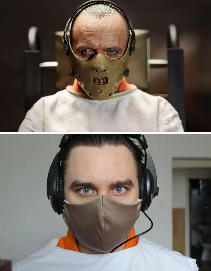 couple recreates famous movie scenes 32 5e9571e88c0d2 700 An Isolating Couple Is Recreating Classic Movie Moments While In Quarantine