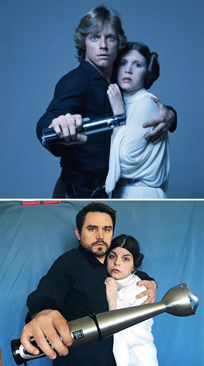 couple recreates famous movie scenes 35 5e9574650a01a 700 An Isolating Couple Is Recreating Classic Movie Moments While In Quarantine