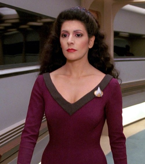 marina sirtis as counselor deanna troi in star trek the next generation 1558801691 Here's What The Cast Of Star Trek: The Next Generation Look Like Now