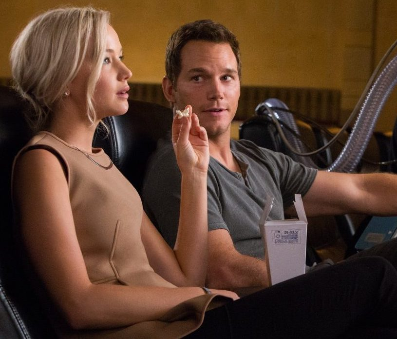 Chris Pratt and Jennifer Lawrence in Passengers 2016 e1621867356709 35 Great Movie Romances That Are Actually Deeply Problematic