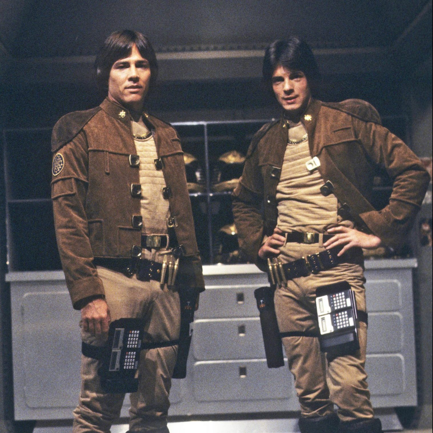 BSG Cast Captain Apollo Lieutenant Zac 03 scaled e1603100884506 20 Things You Probably Didn't Know About The Original Battlestar Galactica