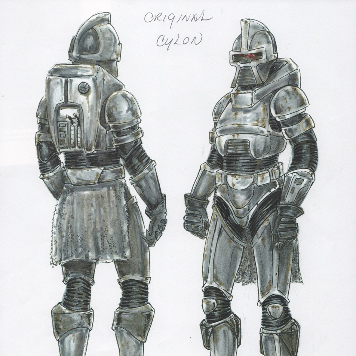 BattleG Cylon Original Sketch e1602862204852 20 Things You Probably Didn't Know About The Original Battlestar Galactica