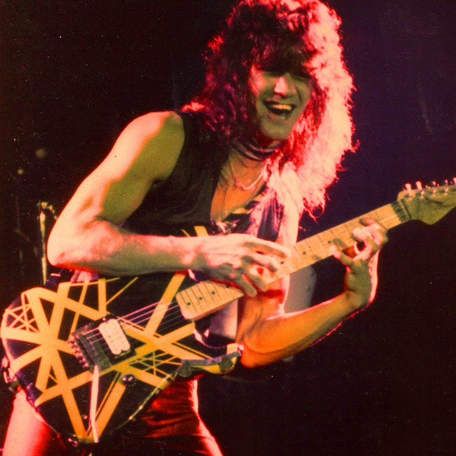 Eddie Van Halen bumblebee guitar yellow black stripes 1979 2 e1602257845466 20 Things You Might Not Have Known About The Late, Great Eddie Van Halen
