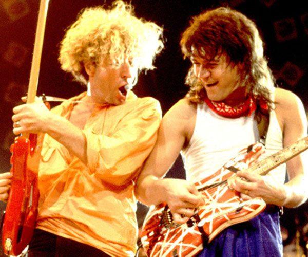 sammy hagar eddie van halen concert pose e1604674124262 20 Facts About Rock Legends Van Halen That Will Make You Jump