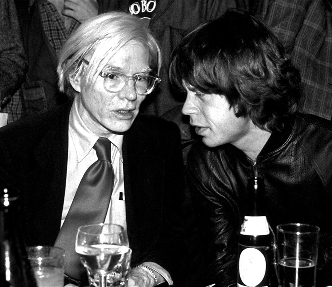 Andy Worhol and Mick Jagger838 e1606231824786 10 Things You Never Knew About The Rolling Stones