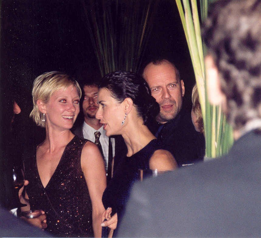 Anne Heche Demi Moore and Bruce Willis 20 Things You Never Knew About Bruce Willis