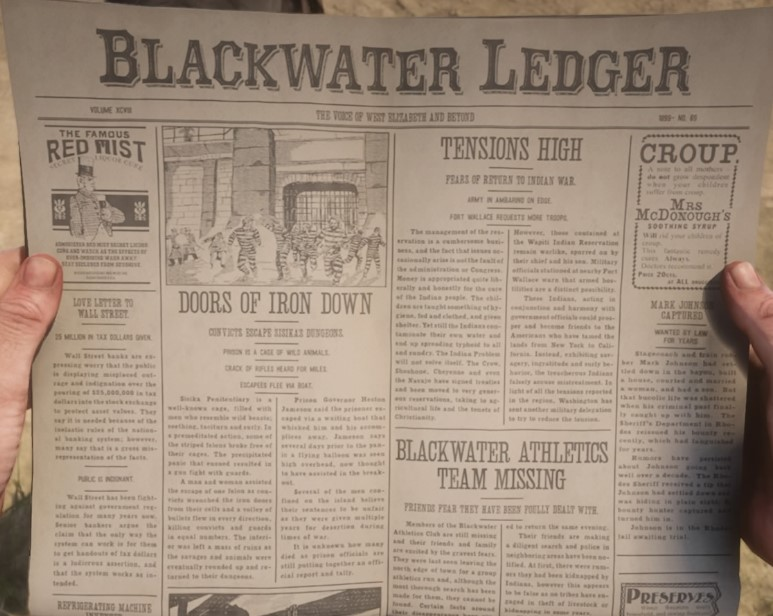 Blackwater Ledger No. 69 20 Creepiest Video Game Easter Eggs