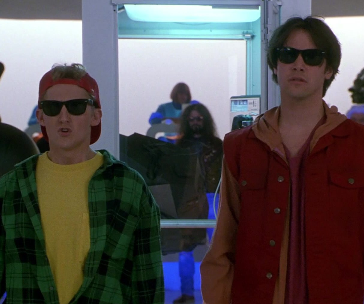 Ray Ban Wayfarer Sunglasses Worn by Keanu Reeves Alex Winter in Bill Teds Bogus Journey 2 e1616683691554 30 Most Triumphant Truths About Bill & Ted's Bogus Journey