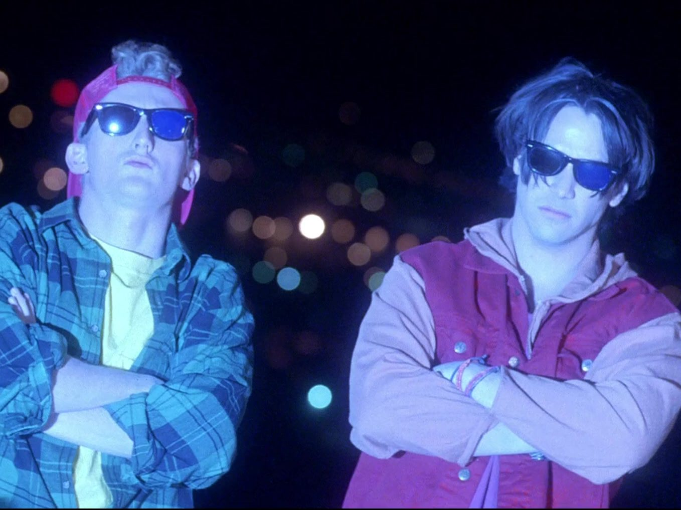 Ray Ban Wayfarer Sunglasses Worn by Keanu Reeves Alex Winter in Bill Teds Bogus Journey 6 e1606223714489 30 Most Triumphant Truths About Bill & Ted's Bogus Journey