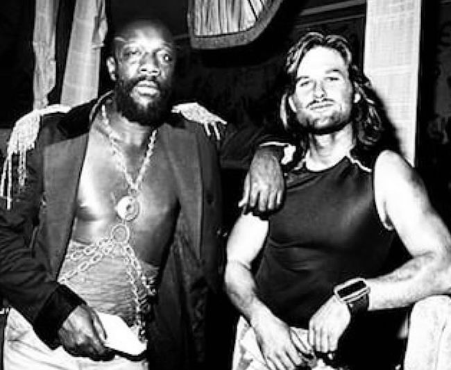 Isaac Hayes Kurt Russell on the set of John Carpenters Escape From New York 20 Things You Didn't Know About Escape From LA