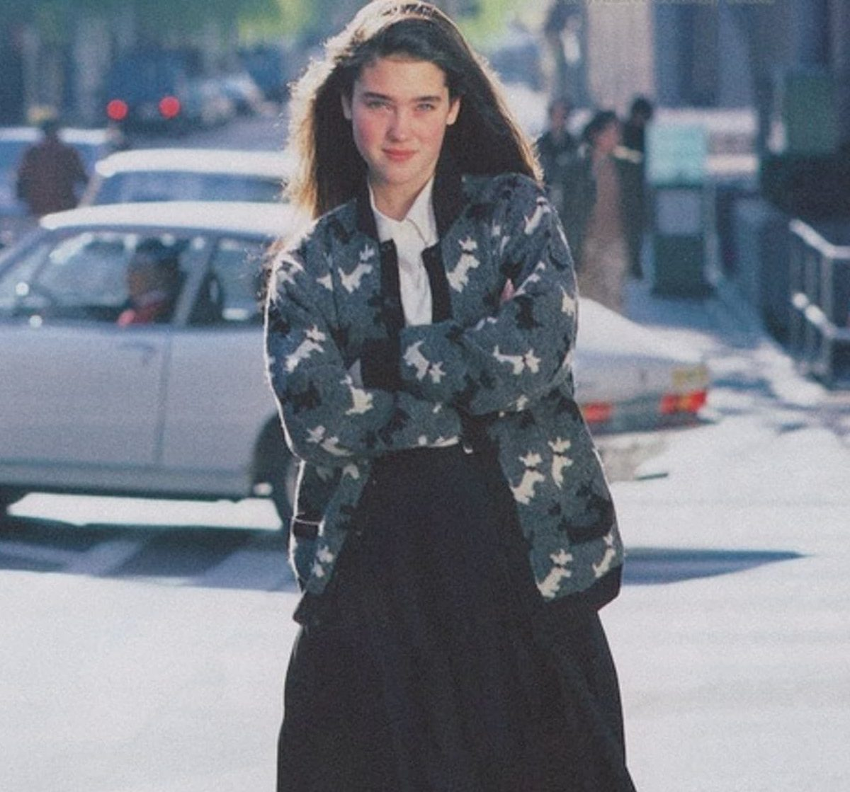 young jennifer connelly in long black skirt and sweater photo u1 e1610099619759 20 Things You Probably Didn't Know About Jennifer Connelly