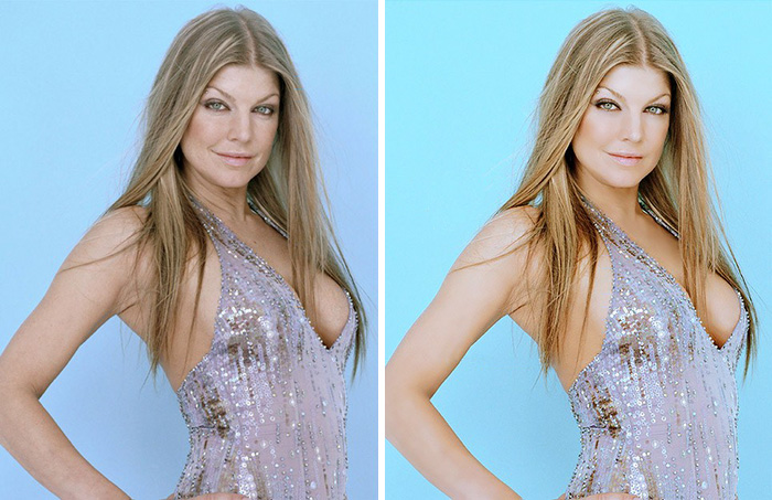 before after photoshop celebrities 7 57d010fbdb898 700 The Before & After Photoshop Pictures Of These Celebrities Are Unreal