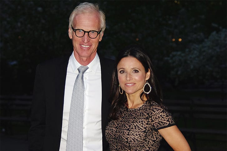 Julia Louis Dreyfus and Brad Hall True Love Exists In Hollywood And These Celebrity Couples Prove It