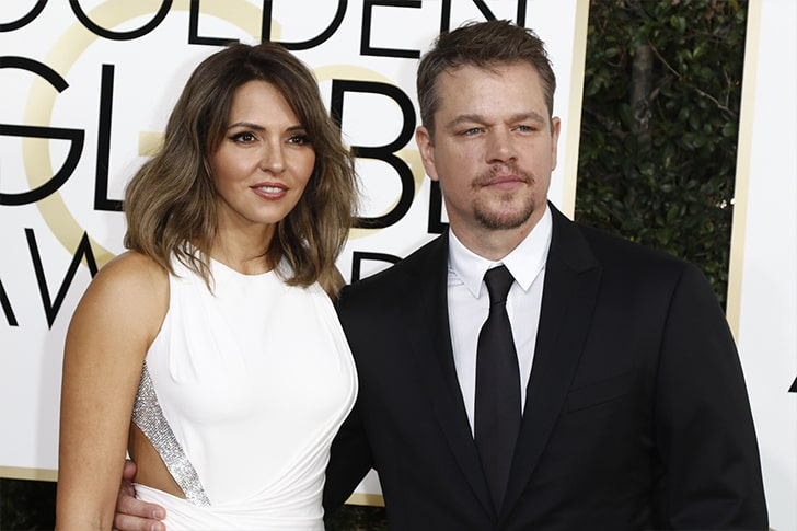Matt Damon and Luciana Barroso min True Love Exists In Hollywood And These Celebrity Couples Prove It