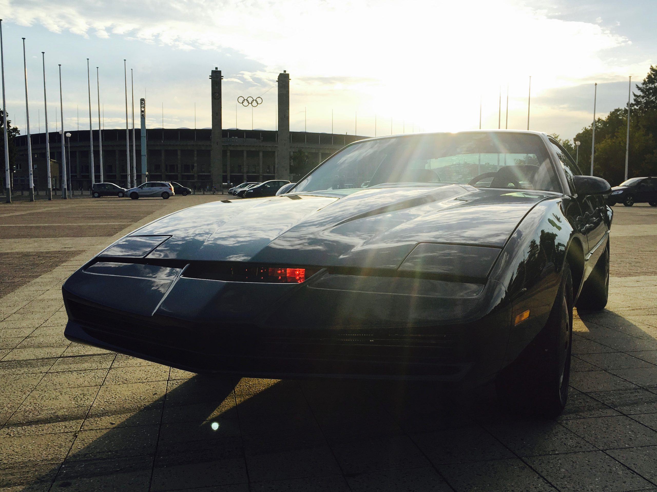 A black Pontiac Firebird Trans Am built to mimic KITT from the TV series Knight Rider scaled Legendary 1980s TV & Movie Vehicles That Sold For A Fortune At Auction