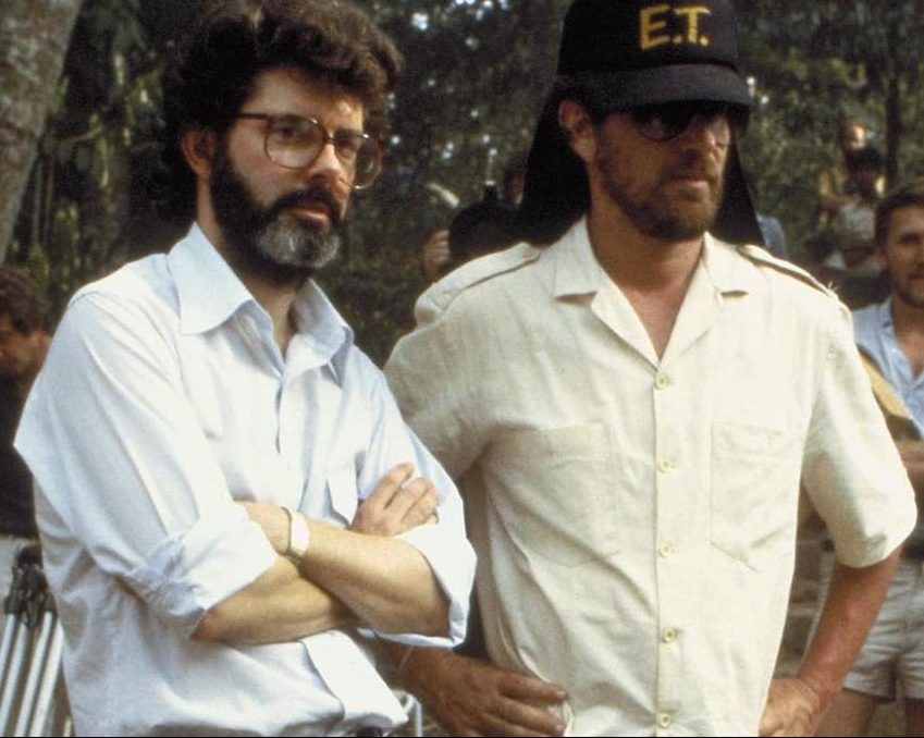 george lucas and steven spielberg in indiana jones and the temple of doom e1615810897413 27 Things You Didn't Know About Jaws