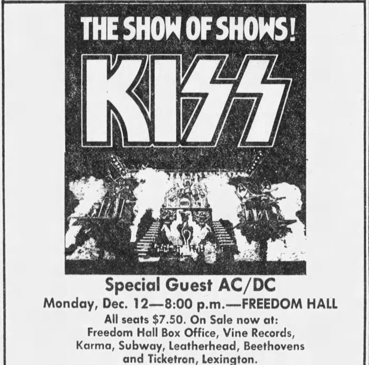 1977 12 12 kiss ad e1619514900683 Rock'n'Roll All Night With These 10 Facts About Kiss