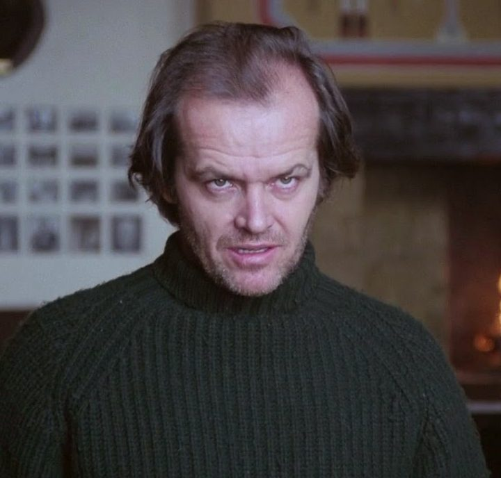 Jack Nicholson Social Distancing in The Shining 2 e1619782440926 20 Things You Probably Didn't Know About Christian Slater