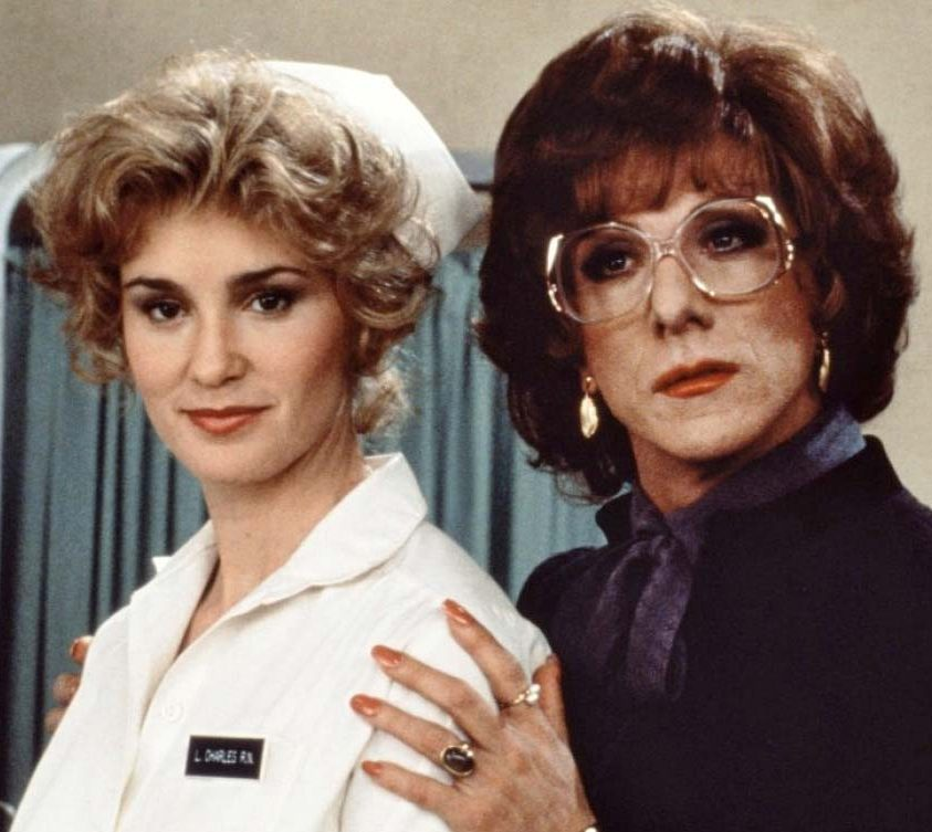 Jessica Lange Tootsie Dustin Hoffman Sydney Pollack e1621329653468 20 Things You Never Knew About Jessica Lange