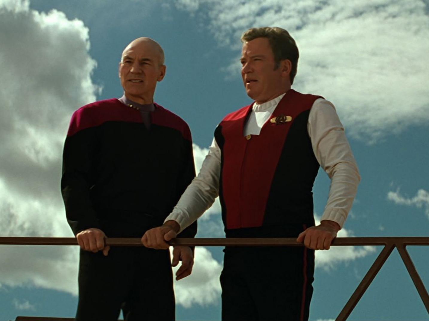 georgekirkback kirkpicardgen Star Trek: All The Live-Action Movies & TV Shows, Ranked!