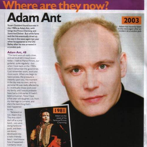 500full adam ant Remember Adam Ant? Here's What He Looks Like Now!