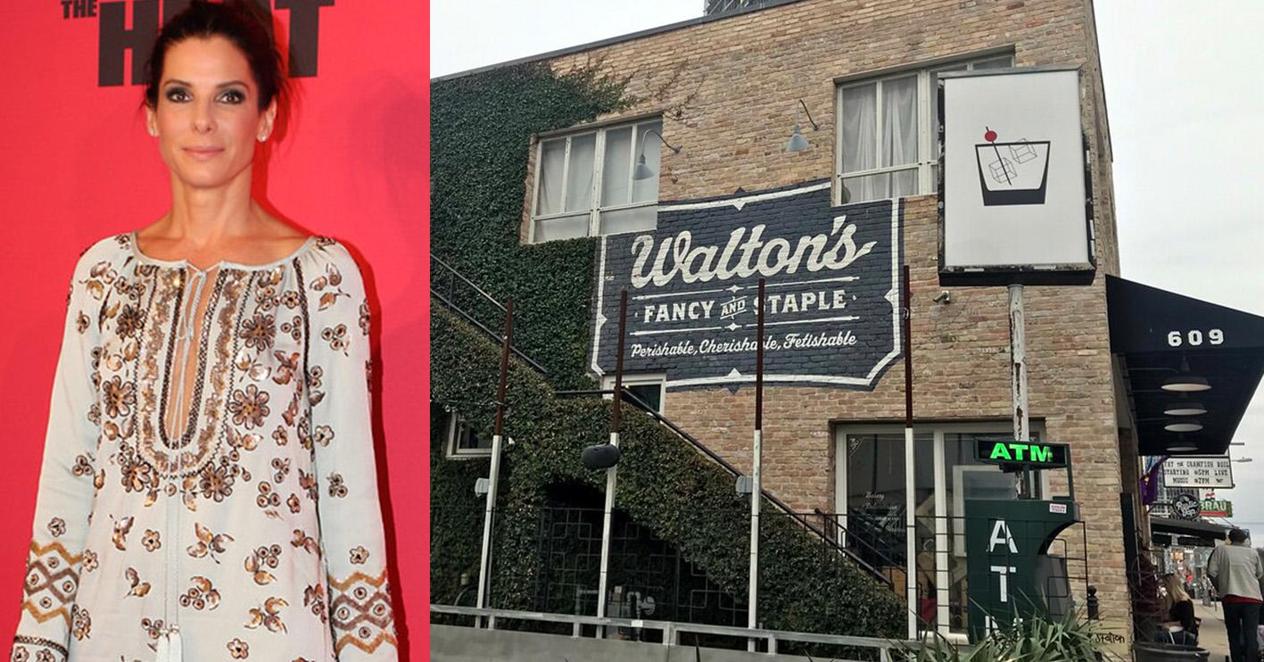 sandra bullock waltons fancy and staple Celebrities With Surprising Side-Hustles