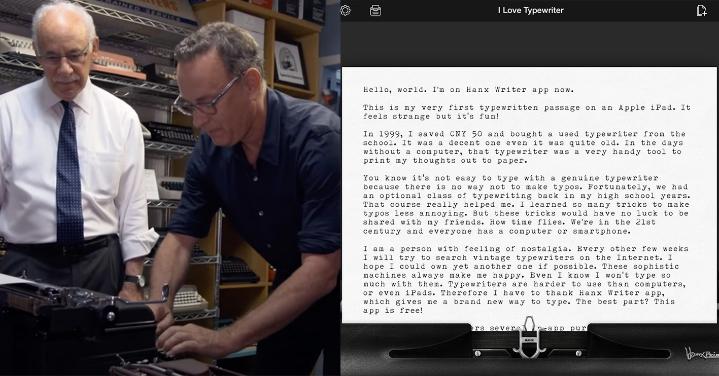 tom hanks typewriter hanx app Celebrities With Surprising Side-Hustles